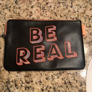 """Be Real"" benefit cosmetic bag"